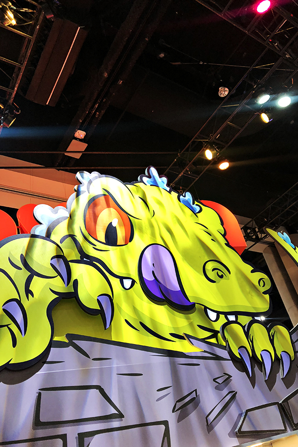 Nickelodeon Booth at San Diego Comic-Con 2018 - Reptar from Rugrats