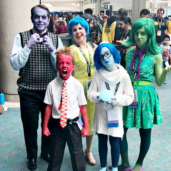 Pixar Inside Out Family Cosplay at San Diego Comic-Con 2018 - Erick