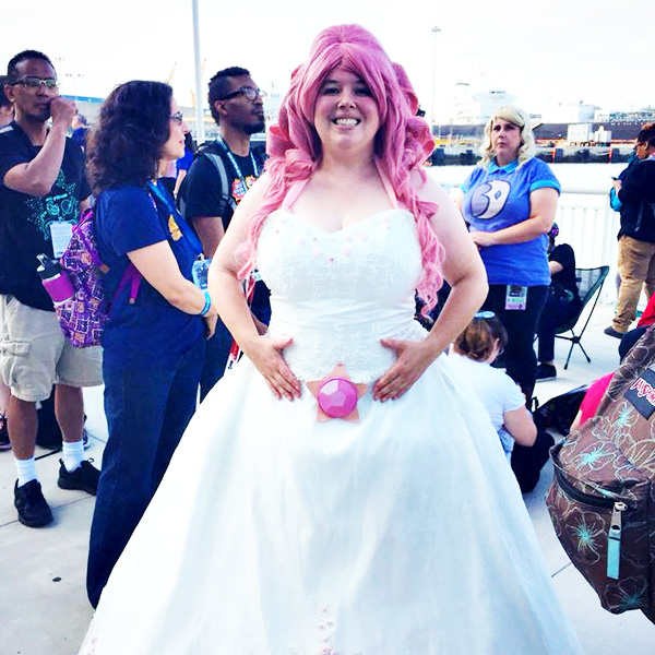 Steven Universe Rose Quartz Cosplay at San Diego Comic-Con 2018 - Jillian