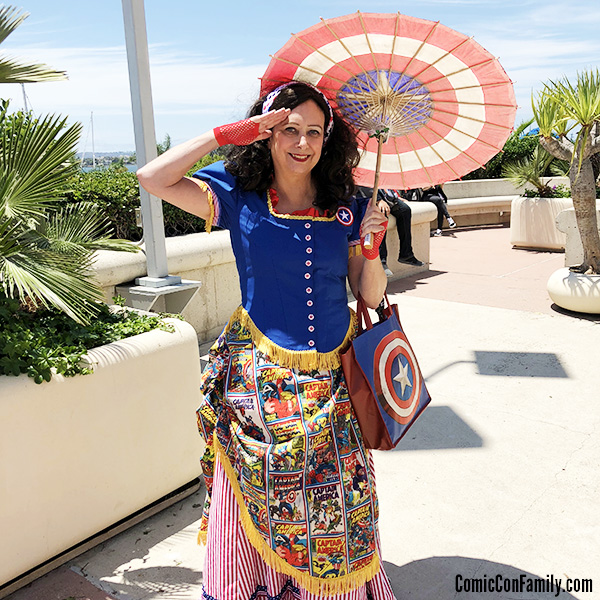 Victorian Captain America Cosplay by Cindy Piselli at San Diego Comic-Con 2018